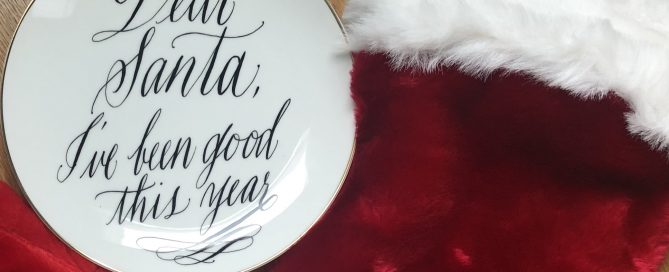 Plate for santa's cookies and Christmas stocking