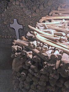 bones piled up at the catacombs