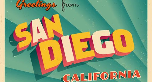 Greetings from San Diego postcard