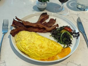 bacon and omelet