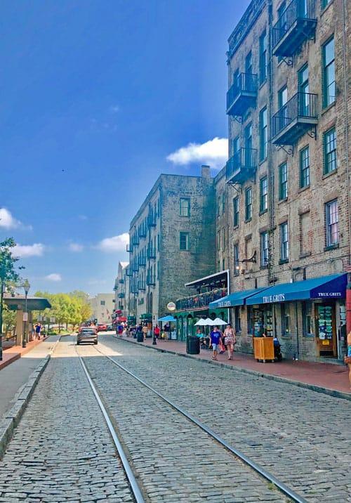 River Street on a long weekend in savannah