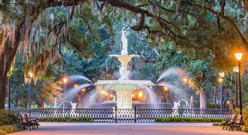 Savannah Forsythe fountain